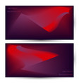 abstract modern banner background design with red vector image vector image
