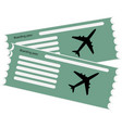 airline boarding pass ticket vector image vector image