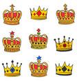 art crown doodle set vector image vector image