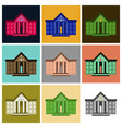 assembly of flat icons courthouse vector image vector image