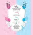 bagirl and baboy royal birthday invitation vector image