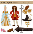 baroque or 17 century european old retro fashion vector image vector image