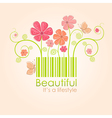 beautiful nature style vector image vector image