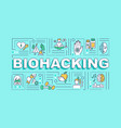 biohacking word concepts banner vector image