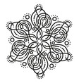 black and white round symmetrical fancy pattern vector image vector image