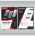 business flyer template with red details vector image vector image