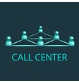 Call center emblem support logo design vector image vector image