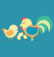 chicken 2017 new year card Funny Rooster symbol vector image