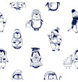 childish seamless pattern with cute little baby vector image