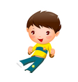 Close-up of boy smiling vector image vector image