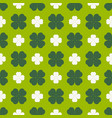 clover leaves seamless pattern shamrock vector image vector image
