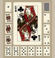 clubs suit playing cards vector image vector image