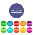 Collection flat icon vector image vector image