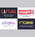 collection various trendy fonts vector image vector image