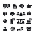communication social media icons vector image
