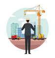 construction engineer cartoon vector image