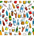 Drinks and bottles seamless background vector image vector image
