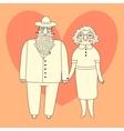Elderly couple Grandparents vector image vector image