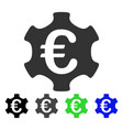 euro industry flat icon vector image vector image
