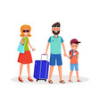 family trip flat vector image