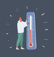 fashian stail gradient global warming icon vector image