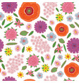 field flowers on the white background - seamless vector image