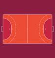 field for handball orange outline lines vector image vector image