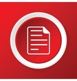 File icon on red vector image