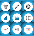 flat icon workshop set of lifting accumulator vector image vector image