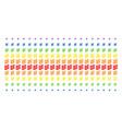 flora plant shape halftone spectral grid vector image vector image