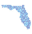florida map population people vector image