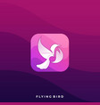 flying bird icon application template vector image vector image