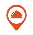 fod icon restaurant location pin icon vector image vector image