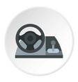 gaming steering wheel icon circle