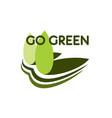 green tree icon for nature cnoservation vector image vector image