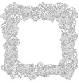 Hand drawn Flower frame or border Doodle style vector image vector image