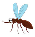 happy flying bug on white background vector image vector image