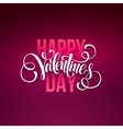 Happy valentines day handwritten text on blurred vector image vector image