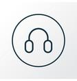 headphone icon line symbol premium quality vector image vector image