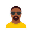 hip hop man icon flat style vector image vector image