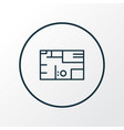 house plan icon line symbol premium quality vector image