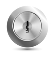 keyhole in round lock vector image