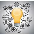 light bulb and icon set design vector image vector image