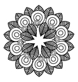 mandala art decorative icon vector image