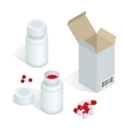 Modern pill bottle for pills or capsules Isolated vector image vector image