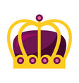 monarchical crown isolated icon vector image