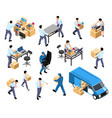 office relocation set vector image