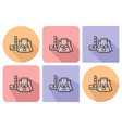 outlined icon of nuclear power planr with vector image vector image