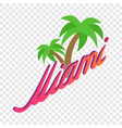 palm trees miami isometric icon vector image vector image