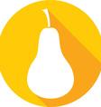 pear icon vector image vector image